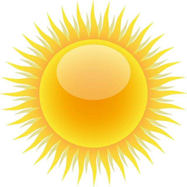 日差しの強さ、太陽