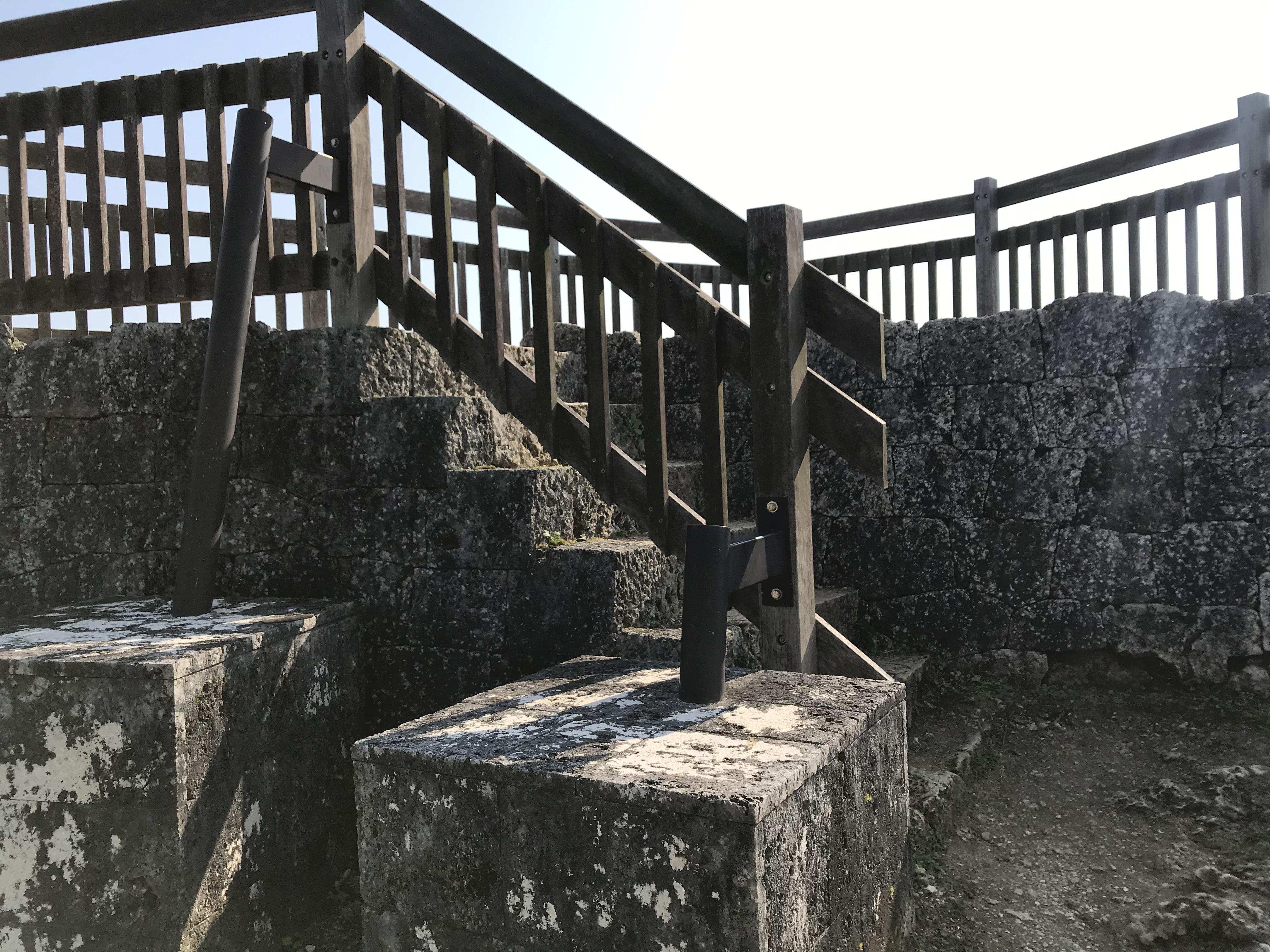 中城城跡の展望台へ続く階段